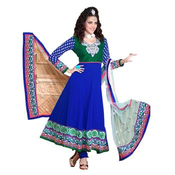 Hypnotex Georgette Blue Color Designer Dress Material Krishna2002