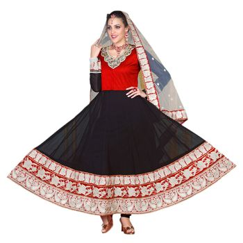 Hypnotex Georgette Black Color Designer Dress Material Krishna2008