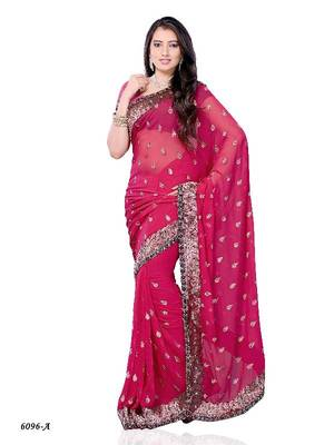 Alluring Designer Saree made from Georgette by DIVA FASHION-Surat