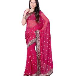 Buy Alluring Designer Saree made from Georgette by DIVA FASHION-Surat georgette-saree online