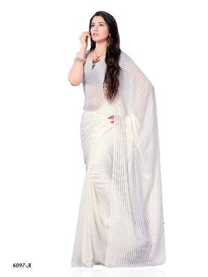 Angelic Casual Wear Saree in fancy fabric by DIVA FASHION- Surat
