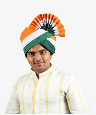 Ekolhapuri Indian Tricolor Cotton Pheta (Turban)