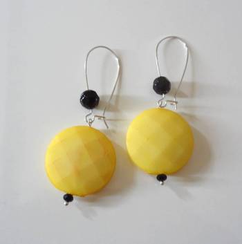 coins long drop earring-yellow
