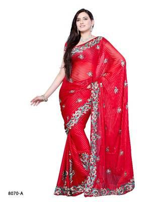 Sedating Designer Saree  by DIVA FASHION- Surat