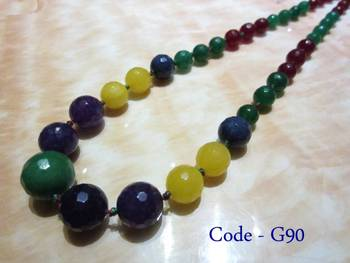 Multicolor Jade Semi Precious Necklace