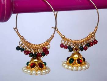 Red and Green Jhumka