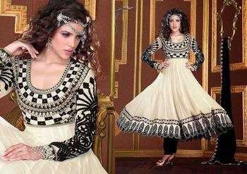 Divine Black & Off White Salwar Kameez