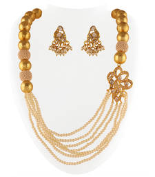 Buy Evergreen Gold plated American Diamond set necklace-set online