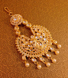 Buy mastani royal stone gold tone pasa hair accessories hair-accessory online