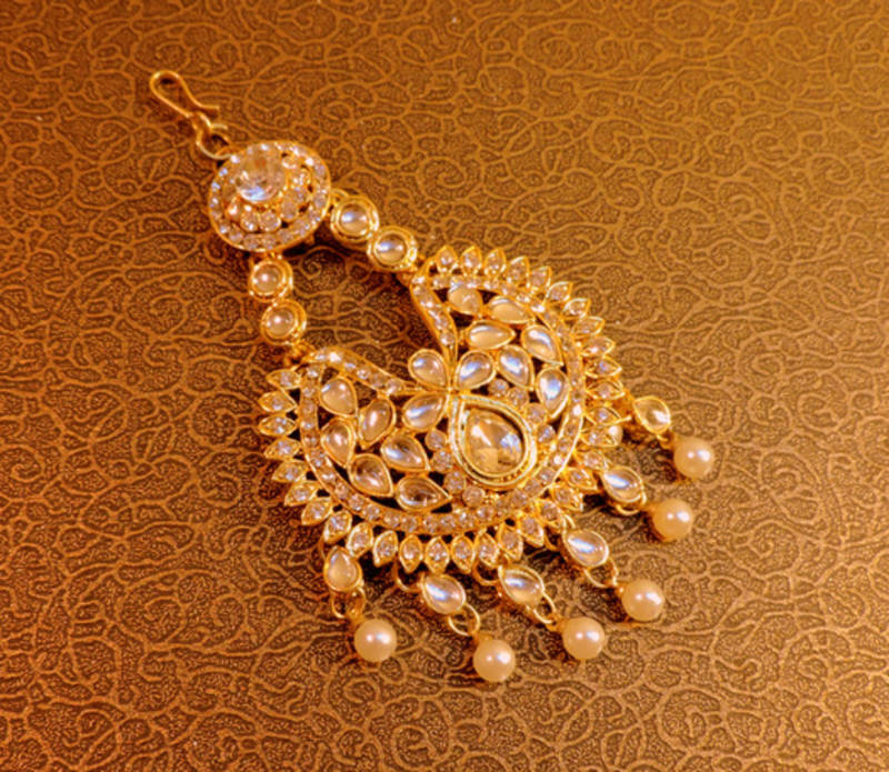 Buy mastani royal stone gold tone pasa hair accessories Online