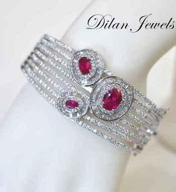 Three Ruby Bracelet