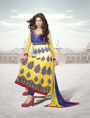Elegant Anarkali Georgette Printed Embroidery Suit Materials D.No S204