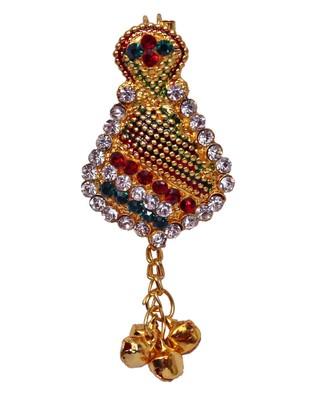 Heer&Sahib Multicolour & Cystal embedded Designer & elegant Kalgi Broach with multiple usage
