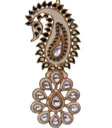 Buy Heer&Sahib Rajputana Royal Kundan Embedded Designer Wedding Turban Kalgi gifts-for-brother online