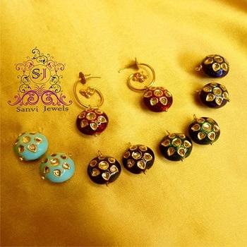 Kundan Meena changeable Earrings