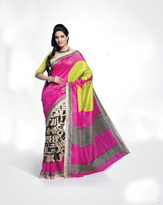 ISHIN Bhagalpuri Silk Multicolour Saree BCVIP-8504