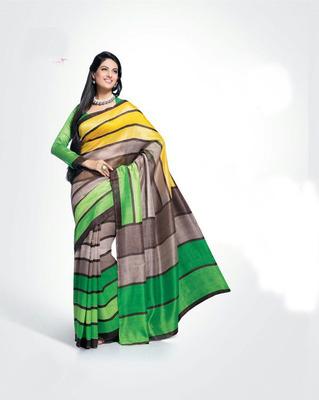 ISHIN Bhagalpuri Silk Multicolour Saree BCVIP-8507