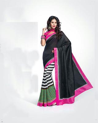 ISHIN Bhagalpuri Silk Multicolour Saree BCVIP-8505