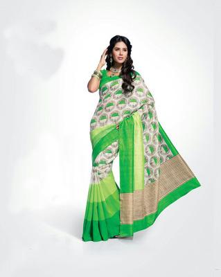 ISHIN Bhagalpuri Silk Multicolour Saree BCVIP-8521