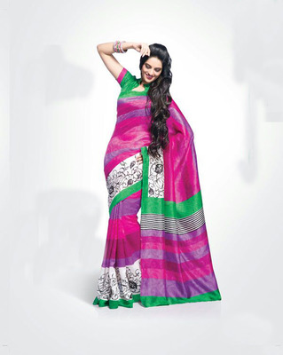 ISHIN Bhagalpuri Silk Multicolour Saree BCVIP-8522