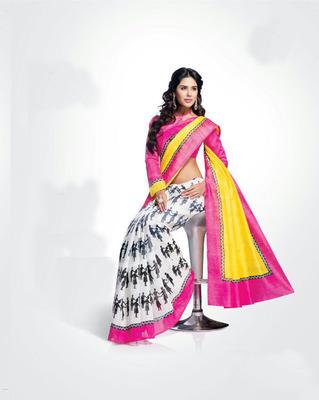 ISHIN Bhagalpuri Silk Multicolour Saree BCVIP-8524