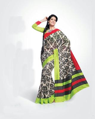 ISHIN Bhagalpuri Silk Multicolour Saree BCVIP-8531