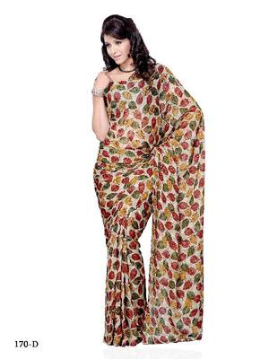 Gleaming Leafy Casual/Office Wear saree by DIVA FASHION-Surat