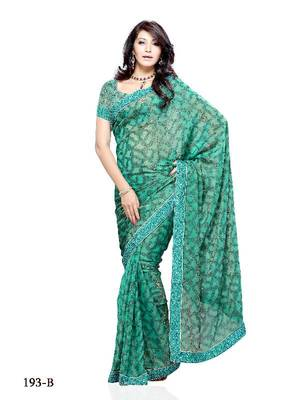 Exquisite bollywood style Festival/Party Wear Designer Saree by DIVA FASHION- Surat