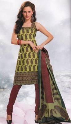 Cotton Dress Material Elegant Designer Unstitched Salwar Suit D.No 8402