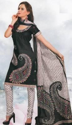Cotton Dress Material Elegant Designer Unstitched Salwar Suit D.No 8411
