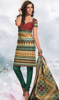 Cotton Dress Material Elegant Designer Unstitched Salwar Suit D.No 8416