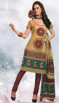 Cotton Dress Material Elegant Designer Unstitched Salwar Suit D.No 8414