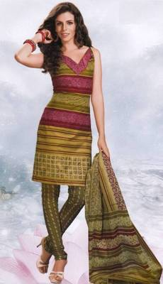 Cotton Dress Material Elegant Designer Unstitched Salwar Suit D.No 8421