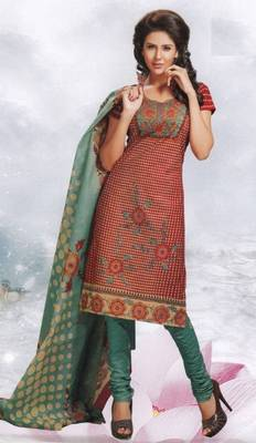 Cotton Dress Material Elegant Designer Unstitched Salwar Suit D.No 8422