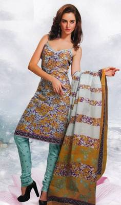 Cotton Dress Material Elegant Designer Unstitched Salwar Suit D.No 8423