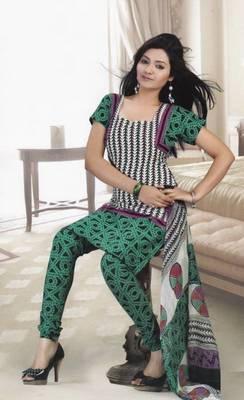 Dress Material Crepe Designer Printed Unstitched Salwar Kameez suit d.no 13006