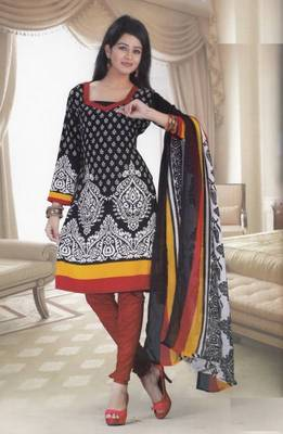 Dress Material Crepe Designer Printed Unstitched Salwar Kameez suit d.no 13016