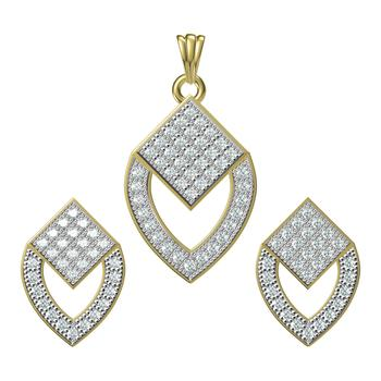 Multicolour Cubic zirconia latest design minakari Pendent set