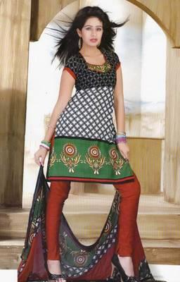 Dress Material Crepe Designer Printed Unstitched Salwar Kameez suit D.No. Z3009