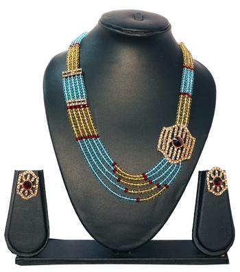 Blue Gold Green Designer Neckalce
