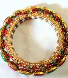 Ethnic jadau navrattan openable bangle