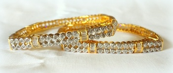 FINE CZ GOLD PLATED bangle