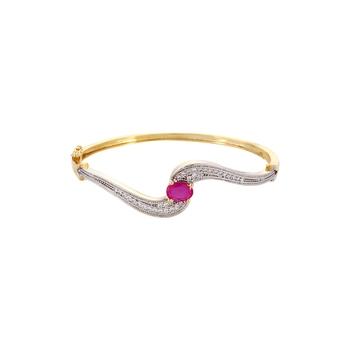 Curvy Stone Studded Bracelet