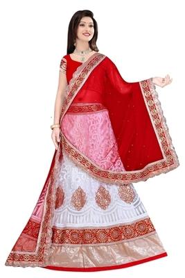 white Indian Traditional Designer lehenga.
