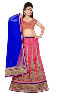 peach Indian Traditional Designer lehenga.