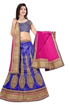 blue Indian Traditional Designer lehenga.