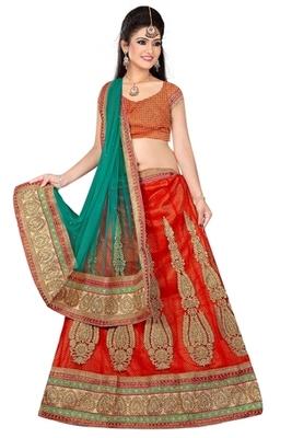 red Indian Traditional Designer lehenga.