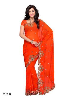 Tempting Festival/Party Wear Designer Saree by DIVA FASHION- Surat