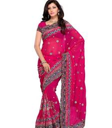 Buy Magniloquent Party wear Lehenga Style Saree by DIVA FASHION- Surat georgette-saree online