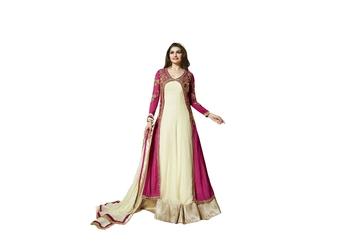 pink Embroidery & Stone & patch patta work georgette semi_stitched salwar